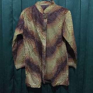 Batik Gradasi Hijau Ungu