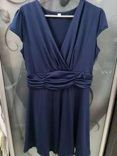 🆕 Navy Blue ruffle dress #CNY888
