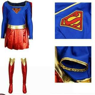 *FREE DELIVERY to WM only / Pre order +-10-15 days* Ladies or Kids superhero supergal costume each as shown design / color. Free delivery is applied for this item.