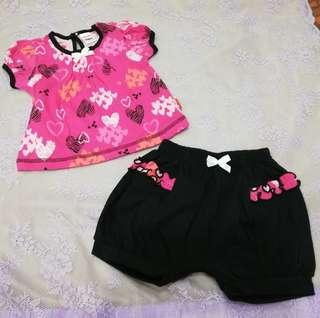 NEW Shirt + short pants clothing set