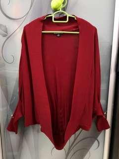 🆕 (Elements) Wine Red Cardigan #CNY888