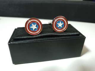 Captain America Shield Cufflinks