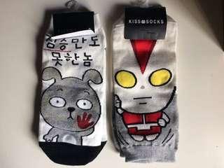 Korean Socks Ultraman and Bunny