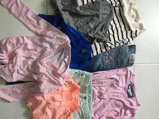 Various Brand's tops , shorts & Levis jeans
