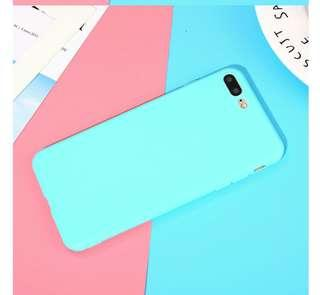 Iphone 7+ Pastel Blue Frosted Matte Case