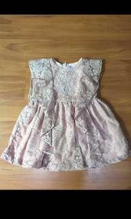 Lacey Dress in Nude Pink