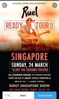 Ruel singapore ticket