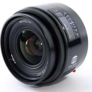 Minolta AF 28mm F/2.8 wide angle Lens for Sony A mount