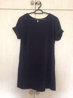 🚚 navy boxy dress