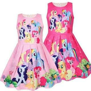 *FREE DELIVERY to WM only / Ready stock* Kids pony dress each as shown in design /color pink, rose. Free delivery is applied for this item.