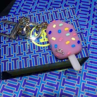 Last one ‼️ New In Box Tory Burch Key Chain Key Holder Confetti Pop' Ice Cream Treat Bag Charm Kate Spade Keychain Mcm Wallet