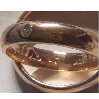 Wedding band ring - Noble Gold 18k