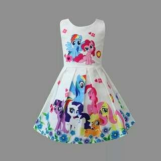 *FREE DELIVERY to WM only / Ready stock* Kids pony dress each as shown in design /color green, white, pink. Free delivery is applied for this item.