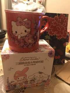 (限量)台灣7-11 Secret Garden 三麗鷗盆栽&陶瓷杯組 Hello Kitty 豬年特別版
