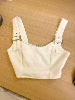 Kailey Crop in White