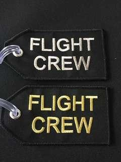 Flight crew embroidery tag