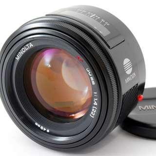 Minolta AF 50mm f/1.4 Lens For Sony Alpha A Mount