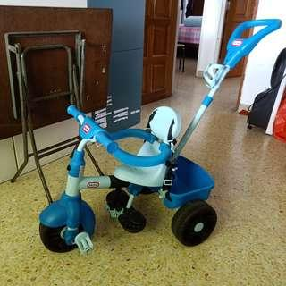 Tricycle bicycle for toddlers with handle from little tikes