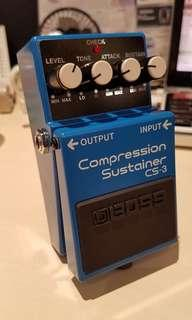 As new - BOSS CS-3 compression sustainer pedal