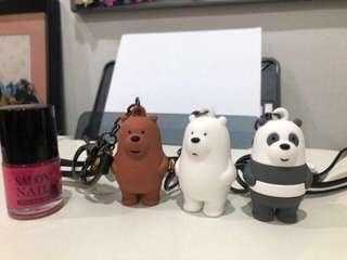 We Bare Bears Figure Keychain