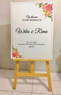 undangan nikah , banner nikah