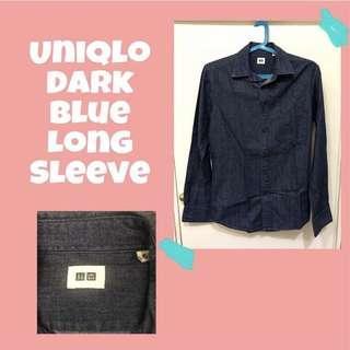 Uniqlo Dark Blue Long Sleeve