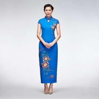 Blue Floral Cheongsam #CNYGA
