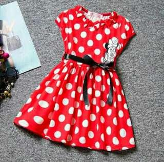 *FREE DELIVERY to WM only / Ready stock* Kids minnie mouse dress each as shown in design /color red polka. Free delivery is applied for this item.