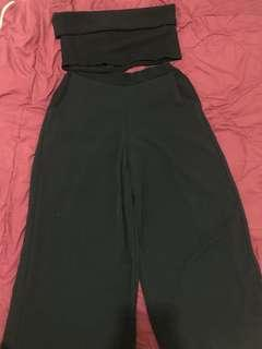 Black two piece / co-ords