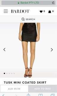 Bardot faux leather skirt