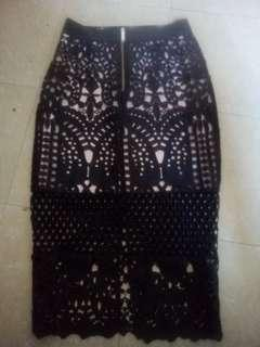 Size 1 ted baker pencil lace skirt