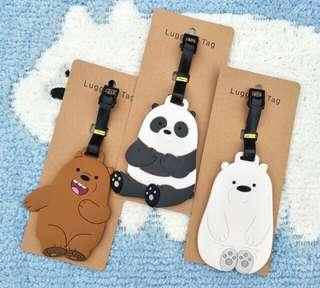 We Bare Bears Luggage Tag