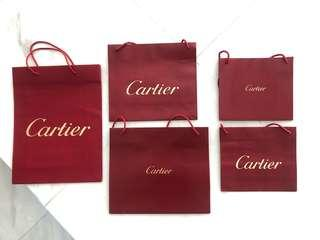 Authentic Cartier paperbags