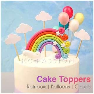🎂 RAINBOW • BALLOON CAKE TOPPER