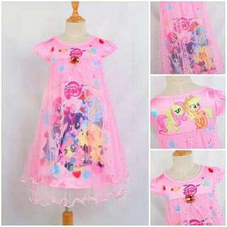 *FREE DELIVERY to West Malaysia only / Ready stock* Kids pony dress each 110-130 as shown in design /color pink. Free delivery is applied for this item.