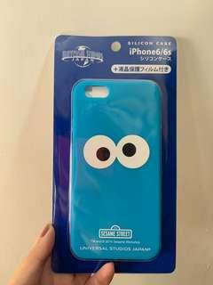 Cookie monster silicon iphone 6/6s case 連mon貼