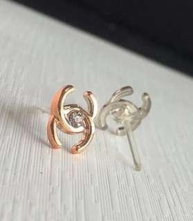 50 Pairs -COCO - Rose Gold Earring Studs - Non Allergic