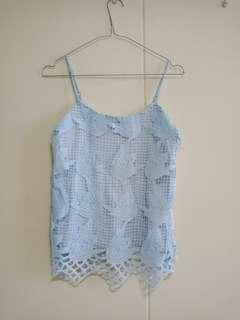 BNWOT TSW lace cami spag top