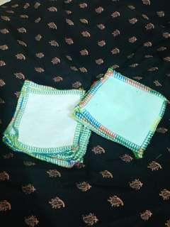 Zero waste bamboo cotton and terry cotton wipes