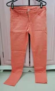 Peach pink hammer jeans