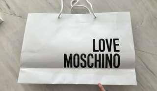 MOSCHINO authentic paperbag