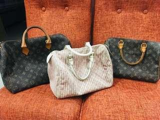 Lv speedy 30 ( pink and white )