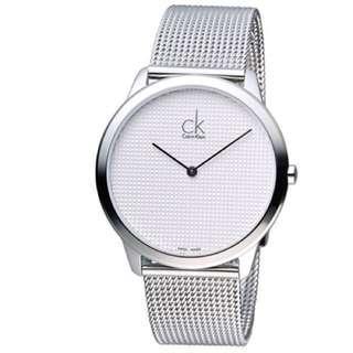 CK Calvin Klein 經典歐美潮流米蘭編織腕錶 K3M2112Y 白