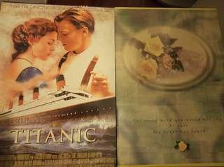 New Photo albums(flower cover and titanic cover) 相簿2箱