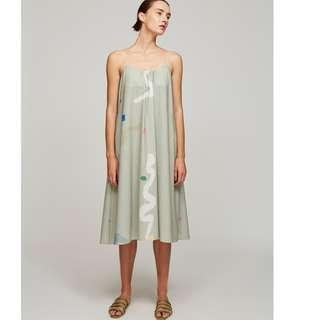 0842cd5cd7 OSN Our Second Nature Treasures Tent Dress in Green - Size M