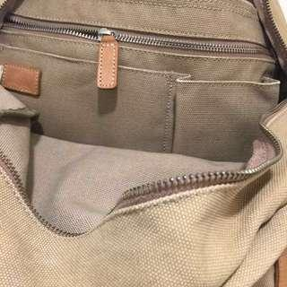 Levi's Levis beige canvas back pack school bag camping bag...