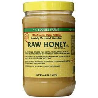(3.0 lbs) 生蜂蜜 YS Eco Bee Farms Raw Honey 3lbs 726635121131