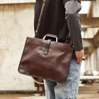 Tenesey Leather Messenger Sling Bag