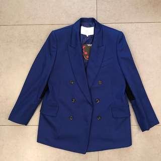 韓國品牌Push Button blue blazer 藍色西裝褸