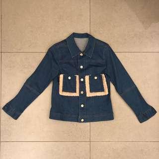 Brand new House of Holland denim jacket faux fur 女裝牛仔短褸